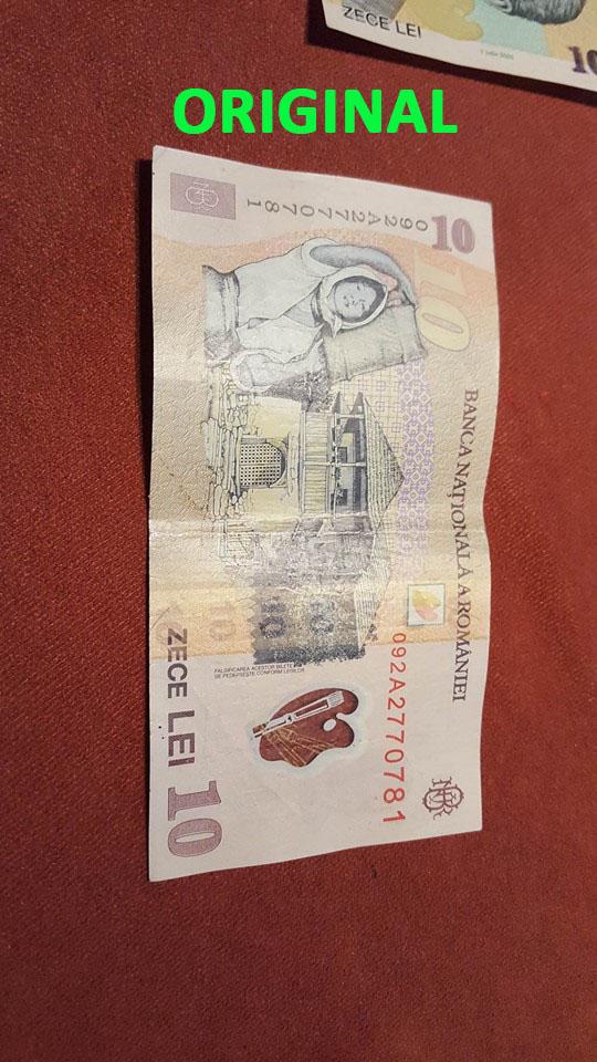 bani falsi 10 lei