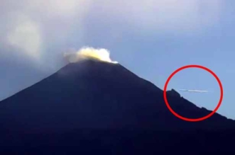 UFO-flying-over-active-volcano
