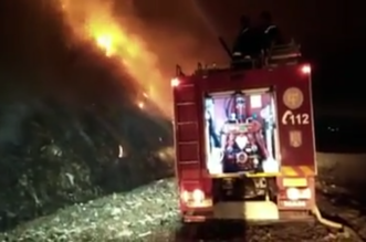 incendiua groapa de gunoi Bacau