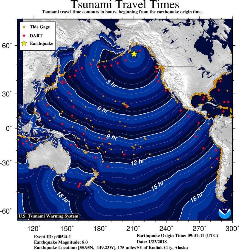 tsunami alaska travel